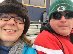 Hats, scarves, gloves, boots and blankets kept us (kind of) warm at Wednesday's soccer game.
