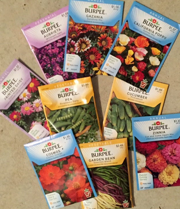 My seed packets this year