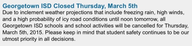 The message on the school district's website.