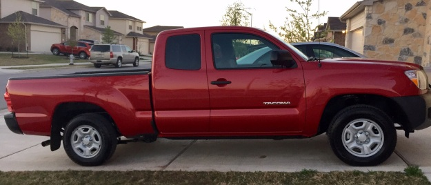 My new 2015 Barcelona red Toyota Tacoma.