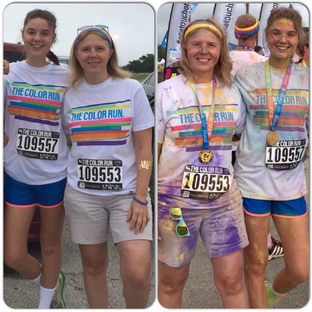Before and after The Color Run.
