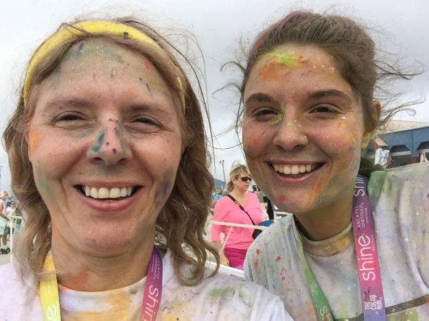 Daughter and I had a lot of fun at The Color Run in Austin.