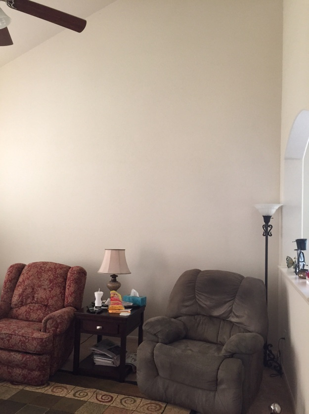 I've got several big, empty walls like this one in the living room that need attention.