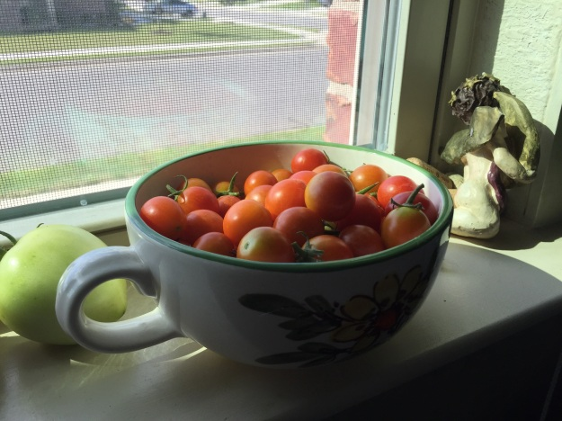 Cherry tomatoes from my garden.