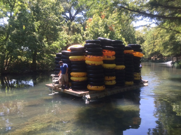 In the original Sclitterbahn Waterpark, this is how they haul tubes from one end of the river to the other. That's a lot of rubber!