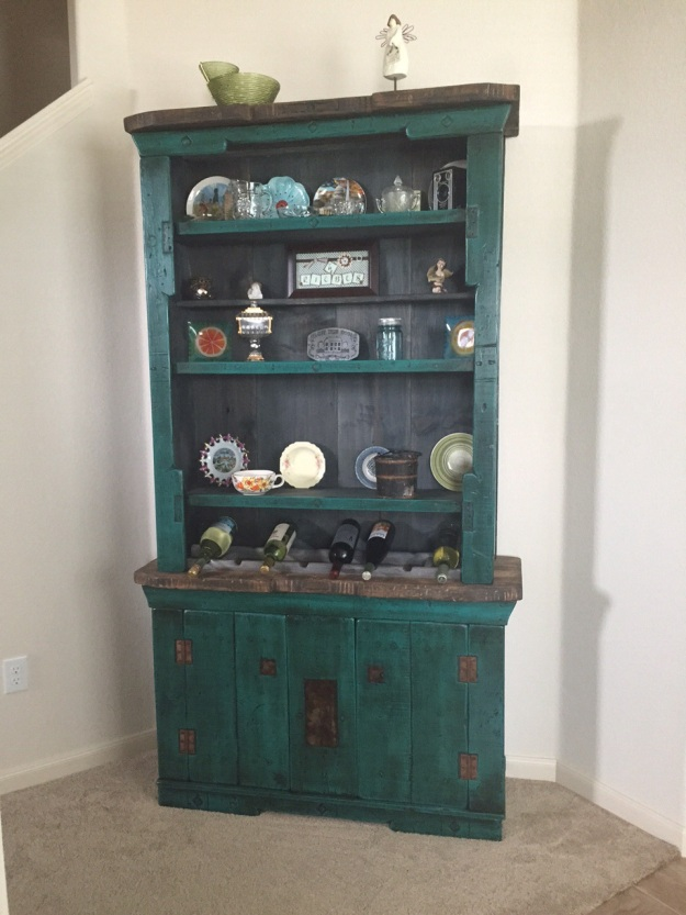 I love this cabinet/hutch we had made for our house.