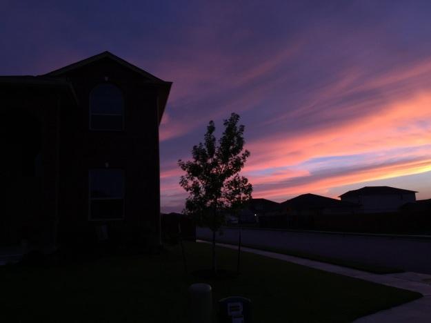 ... turned into a beautiful sunset.